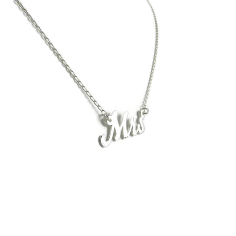 Mrs Silver Necklace