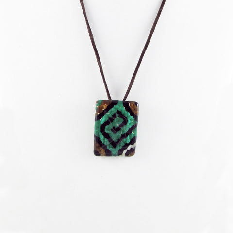 Navajo Glass Pendant - 5 Colors Available