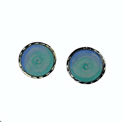 Waves Circle Earrings