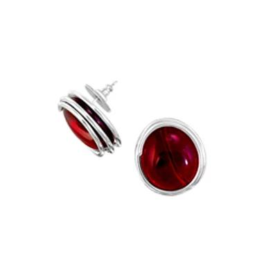 Infinity Earrings - Crystal Red