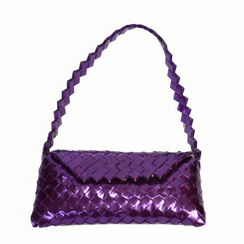 Recycled Candy Wrapper Flap Handbag - Multicolor