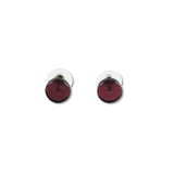 Glass Circle Studs - Purple