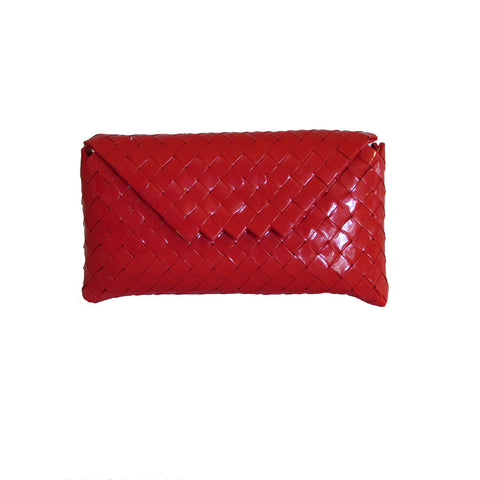 Recycled Candy Wrapper Clutch - Red