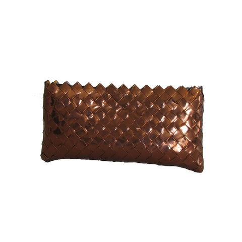 Recycled Candy Wrapper Clutch - Brown