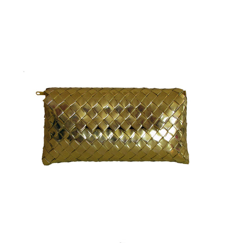 Recycled Candy Wrapper Clutch - Golden