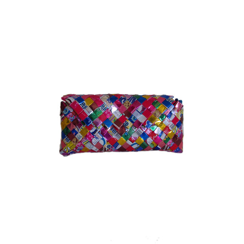 Recycled Candy Wrapper Clutch - Multi Color
