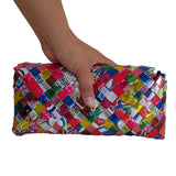 Recycled Candy Wrapper Clutch - Blue