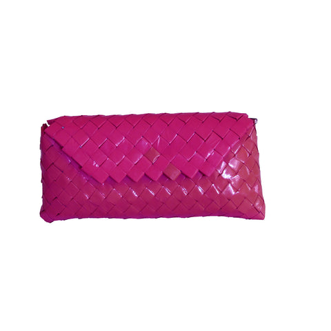 Recycled Candy Wrapper Clutch - Pink