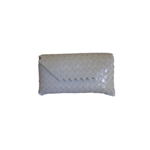 Recycled Candy Wrapper Clutch - White