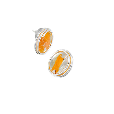 Infinity Earrings - Orange Stripe