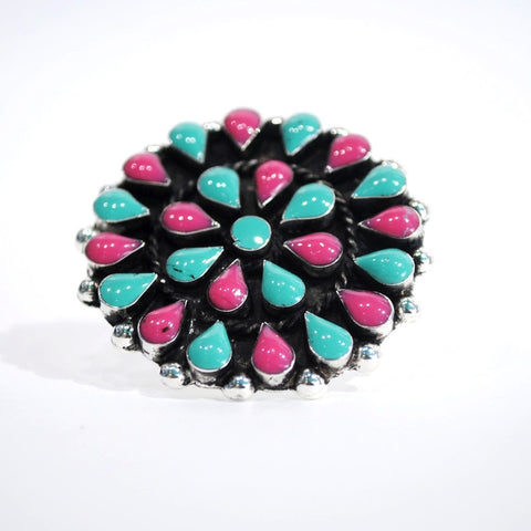 Southwestern Flower Ring - 2 Colors Available