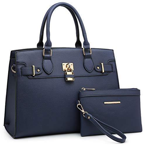 Classic Padlock Handbag with Matching Wallet