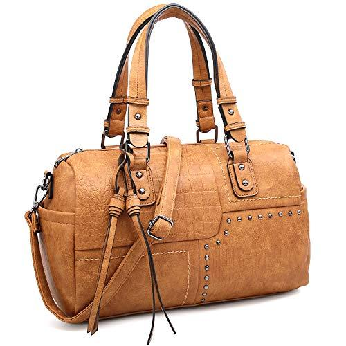 Large Women's Barrel Handbag Top-handle Tote Work Travel with Long Strap丨Dasein