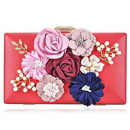 Women Flower Evening Bag Prom Cocktail Clutch with Pearl Beaded丨Dasein