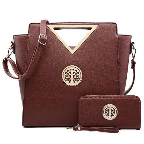 Fashion Design Chic Triangle Handle Shoulder Bag with Matching Wallet丨Dasein