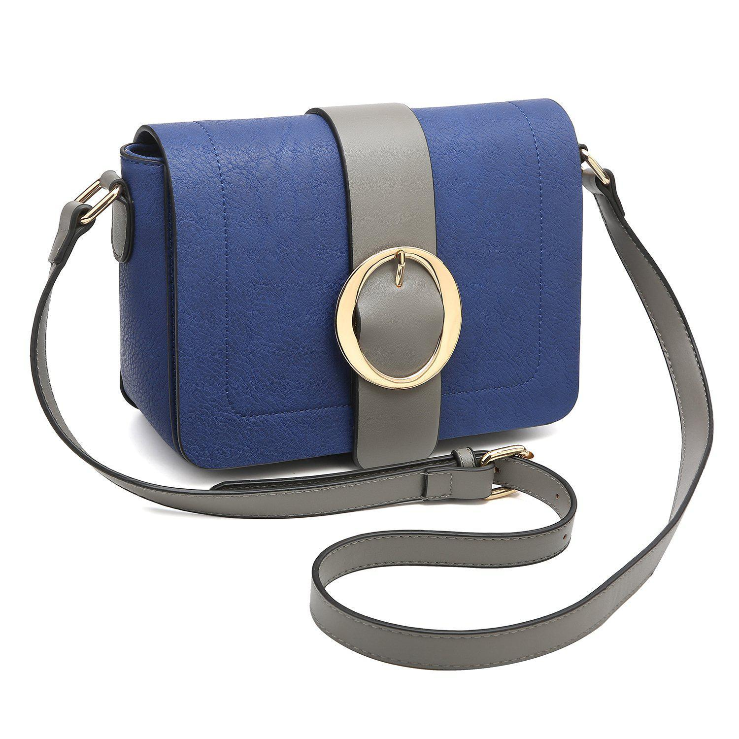 Buckle Gold-Tone Ring Crossbody Bag