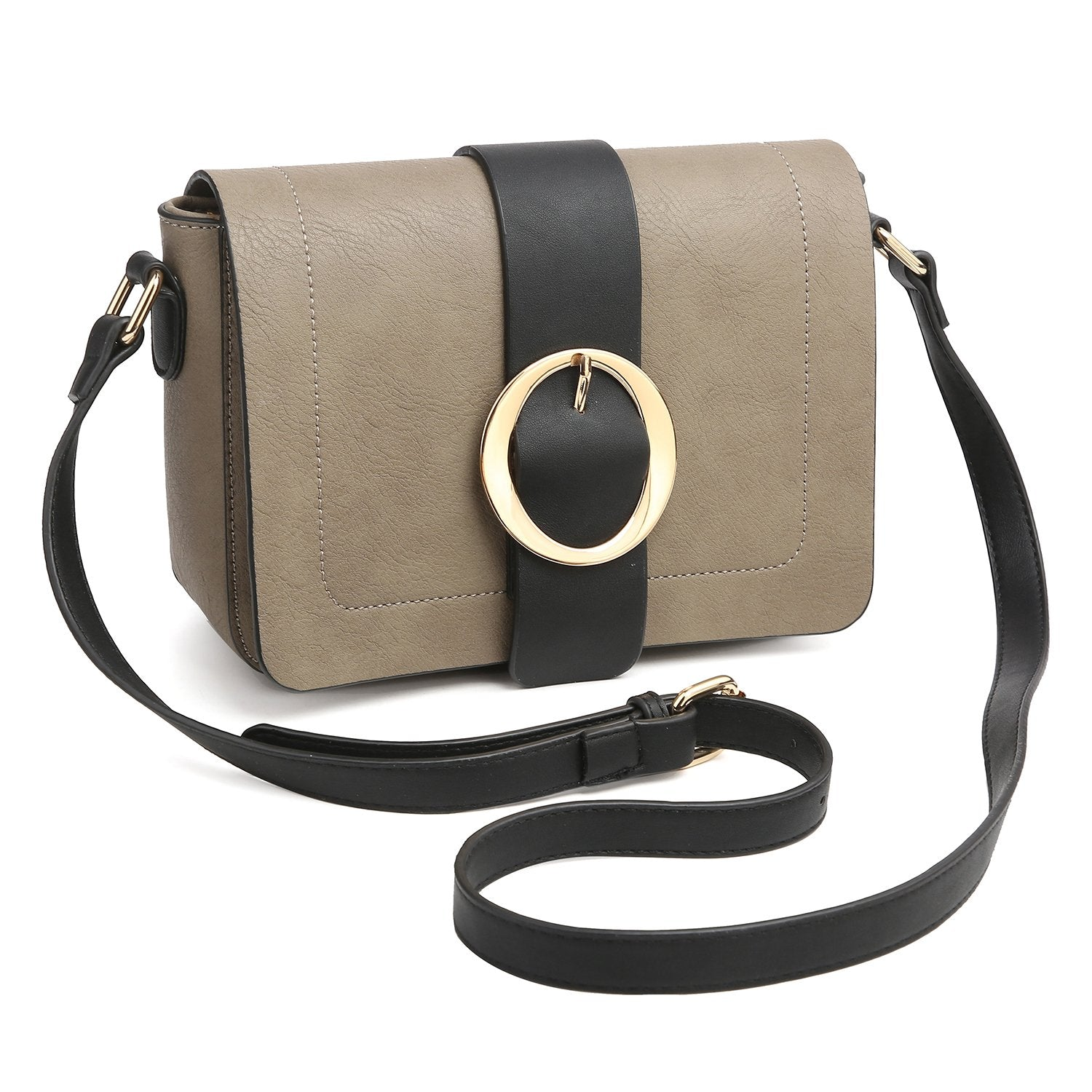 Buckle Gold-Tone Ring Crossbody Bag-Crossbody/Messenger bag-Dasein Bags