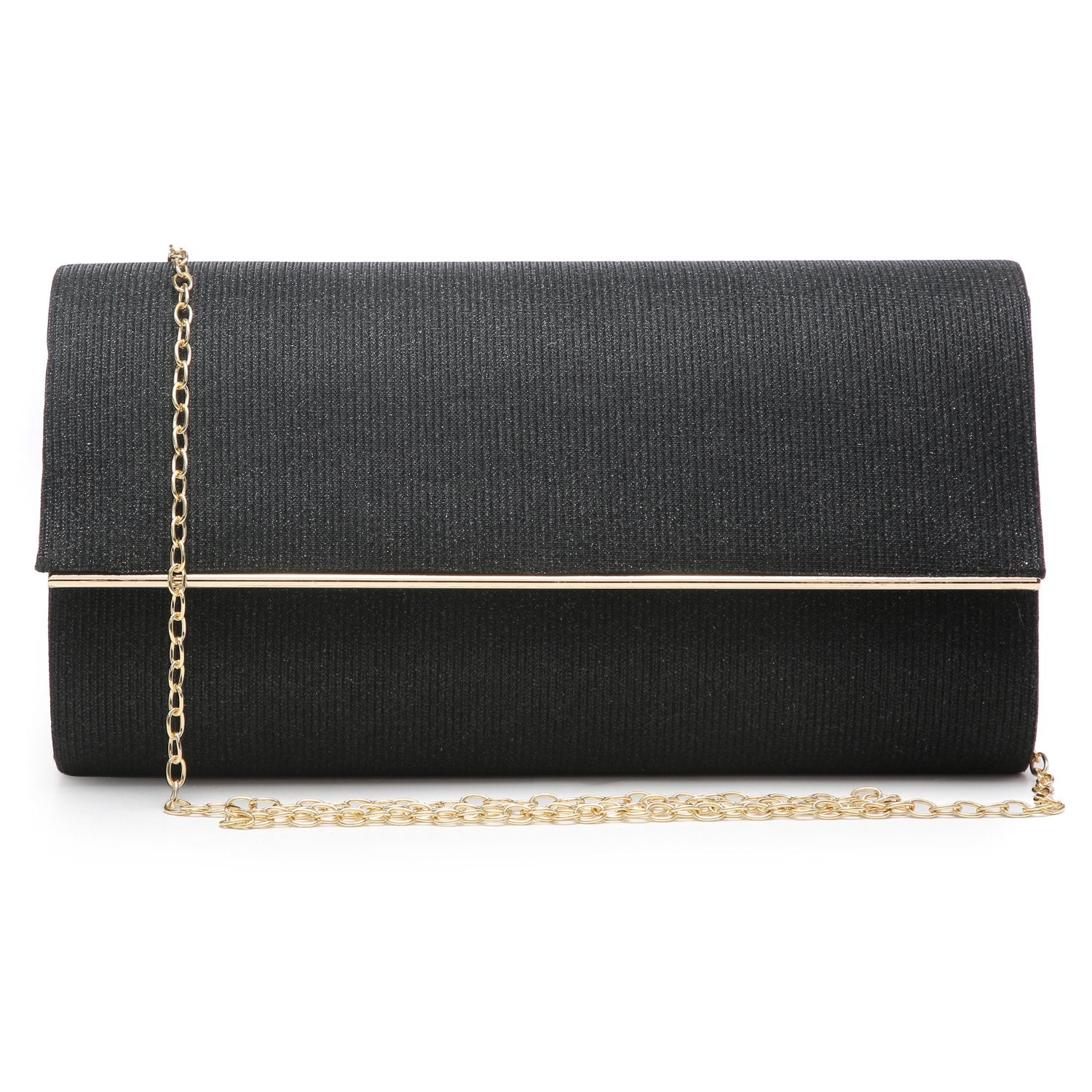 Glitter Gold Trim Evening Clutch