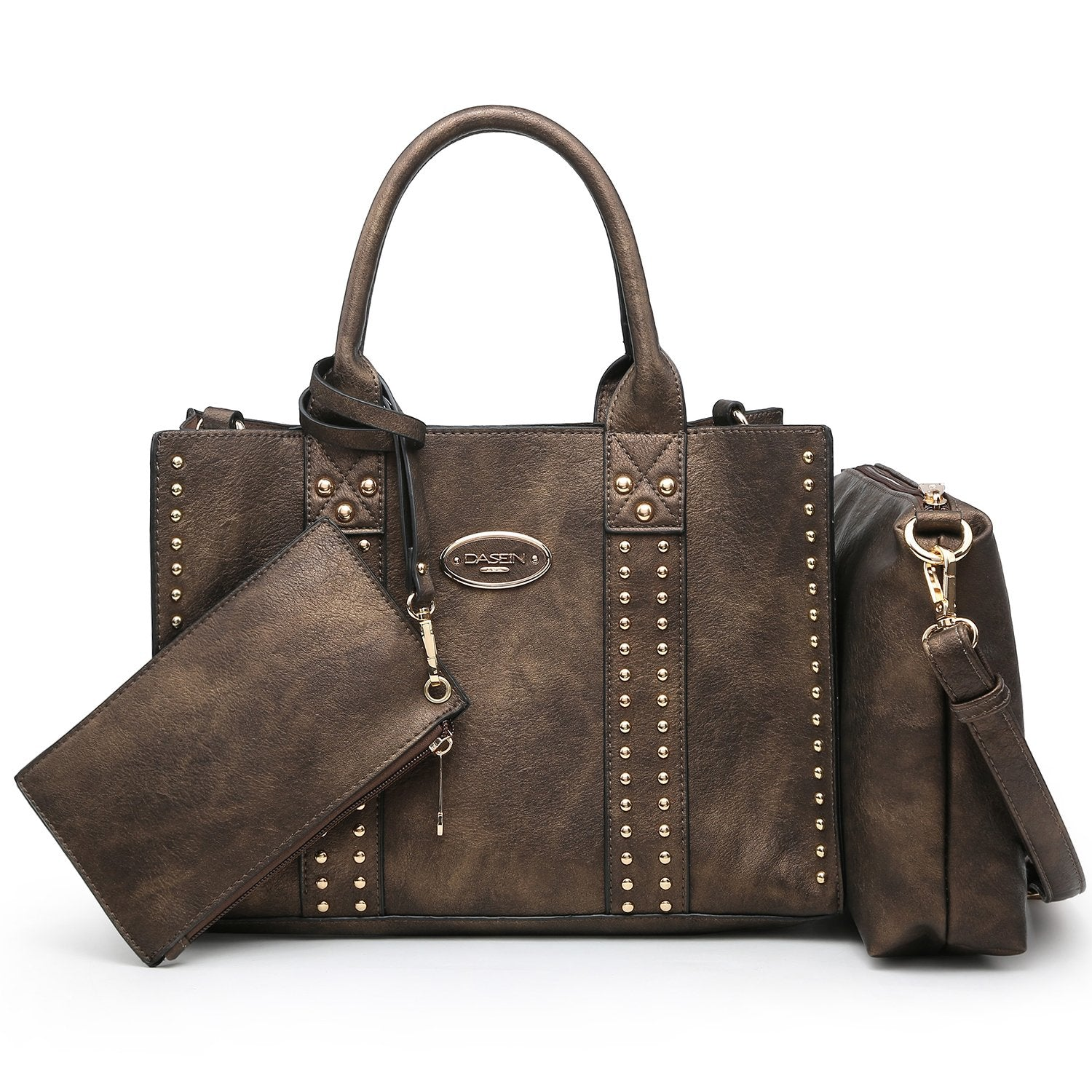 Studded 3-in-1 Top Handle Tote Handbag丨Dasein