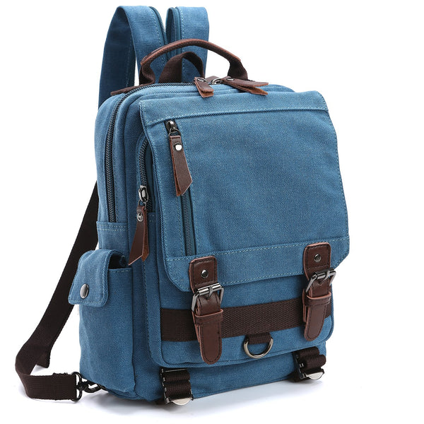 Dasein Vintage Unisex Medium size Canvas Backpack-Double strap