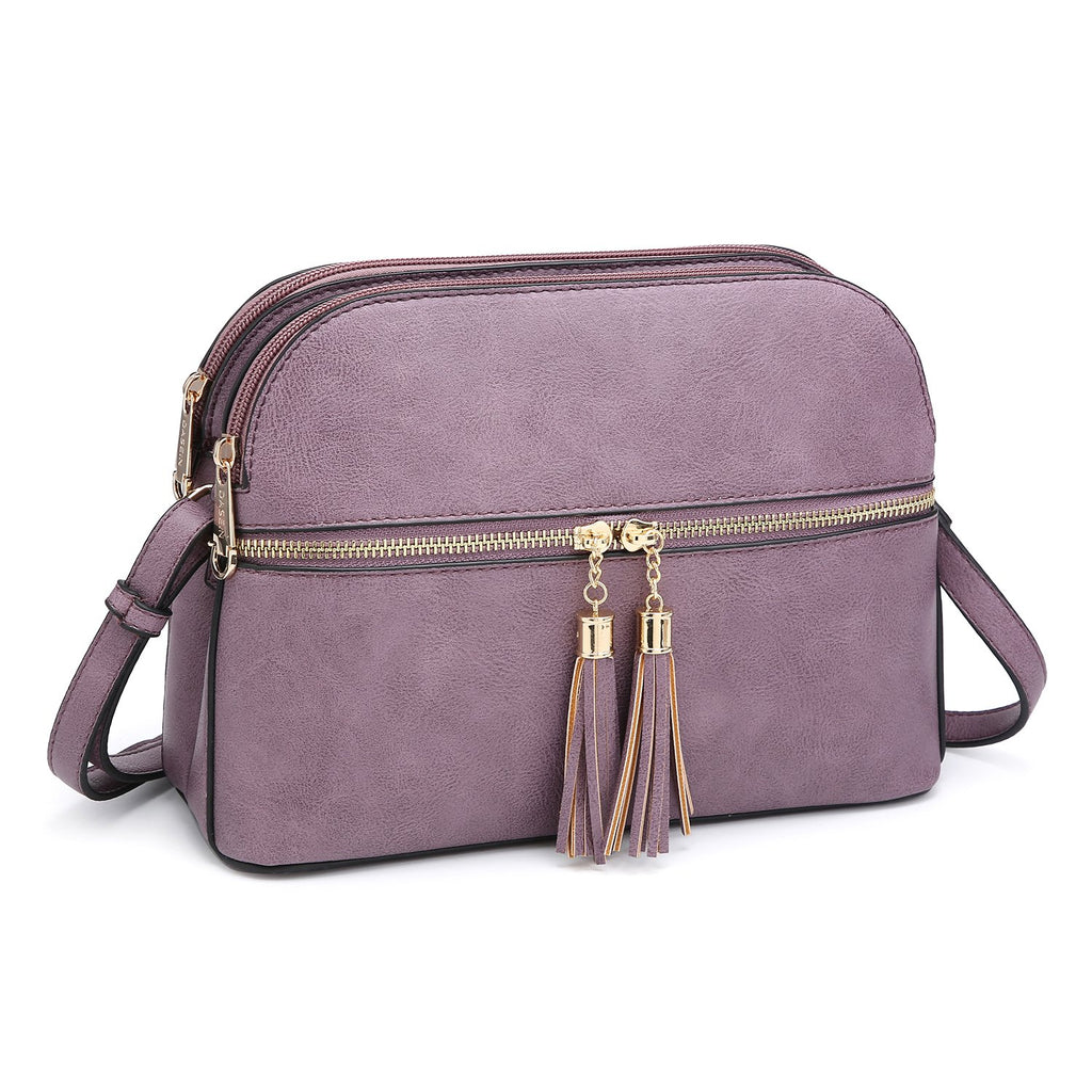 Dasein Tassel Detailed Crossbody/ Messenger Bag