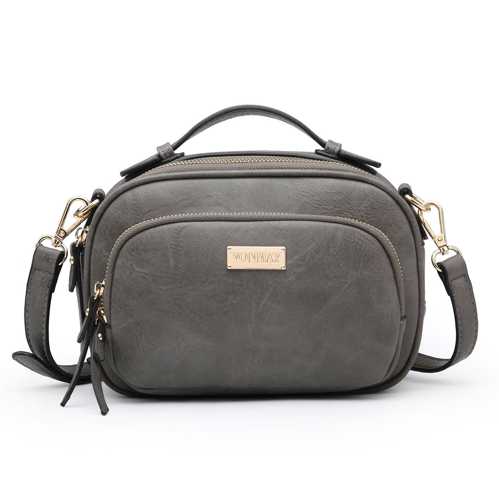 Multi Zipped Compartment All-In-One Crossbody/ Messenger Bag