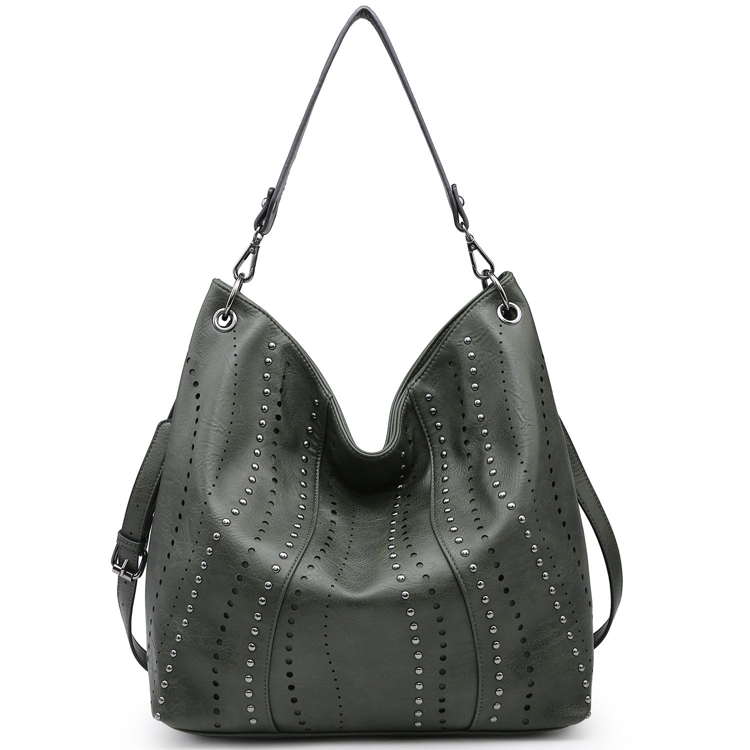 Studded Vintage Hobo Bag