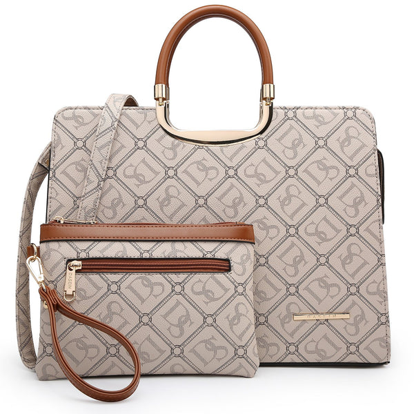 Dasein Monogram/Signature Logo Briefcase with Matching Wristlet