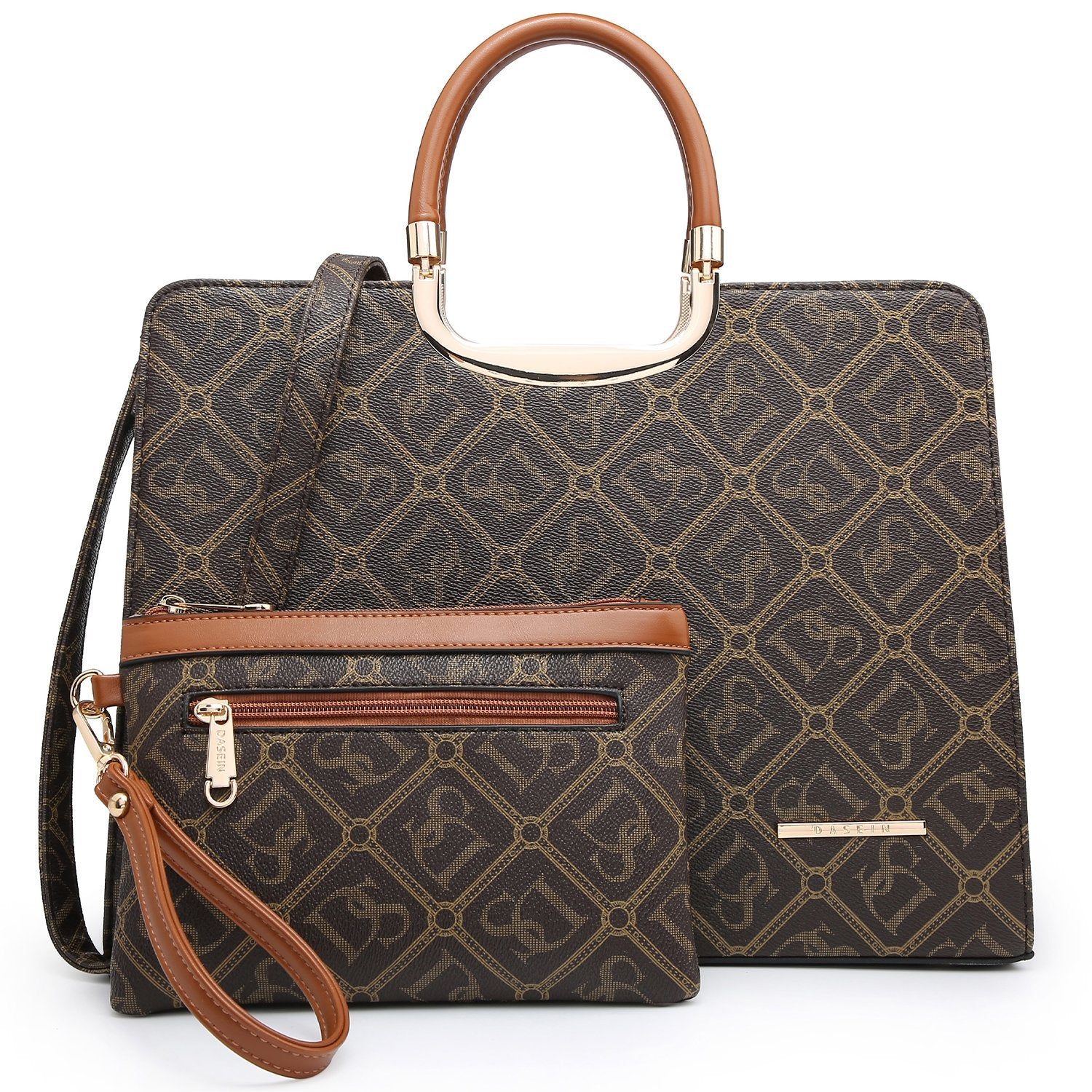 Monogram Briefcase with Matching Wristlet