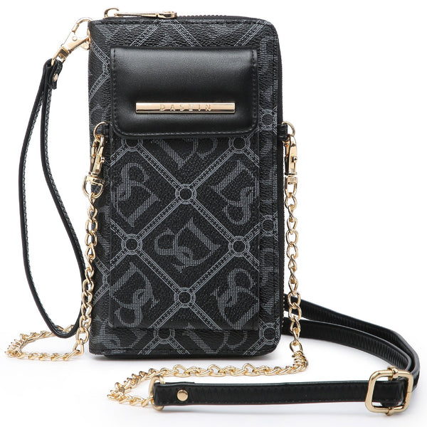 All-In-One Monogram Logo Crossbody/Messenger Bag w/ Detachable Chain Strap