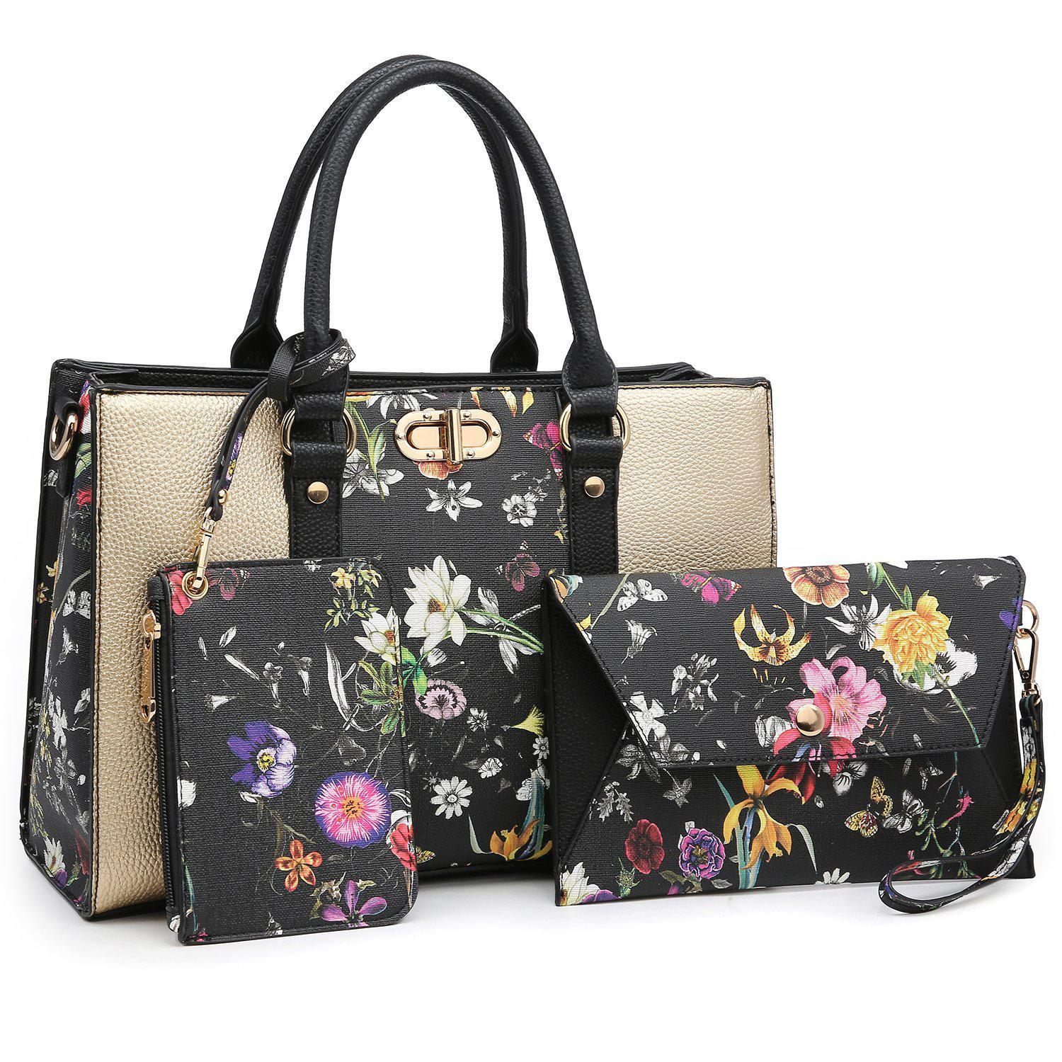 Two-tone 3-in-1 Handbag