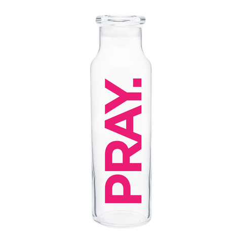 PRAY. Water Bottle (Pink) - 22oz