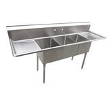 Three Compartment Sinks