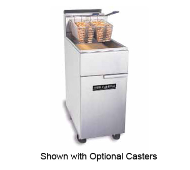 American Range AF35/50 Floor Model 50 Pound Gas Fryer - Kentucky Restaurant Supply