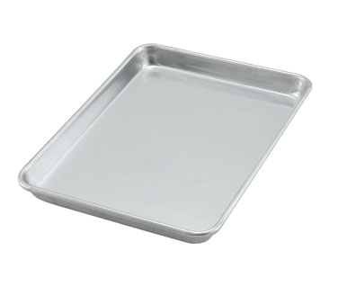 "Winco ALXP-1013 9.5"" x 13"" Aluminum Sheet Pan - Kentucky Restaurant Supply"