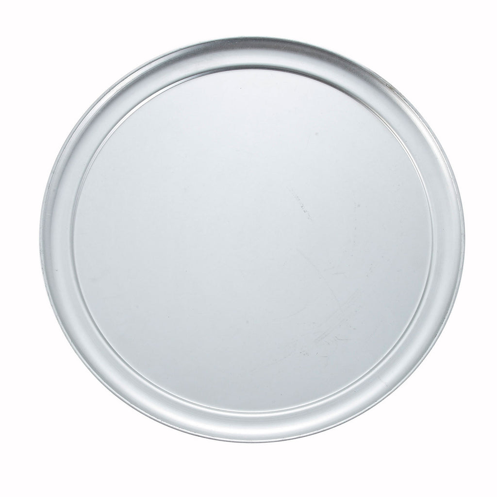 Winco APZT-14 14-Inch Aluminum Pizza Tray with Wide Rim - Kentucky Restaurant Supply