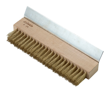 Winco BR-10 Pizza Oven Brush with Scraper - Kentucky Restaurant Supply