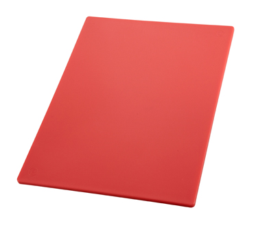 "Winco CBRD-1218, 12"" x 18"" Red Cutting Board - Kentucky Restaurant Supply"