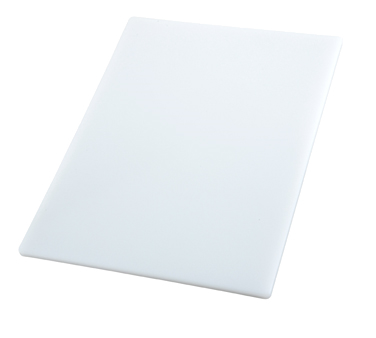 "Winco CBWT-1218, 12"" x 18"" White Cutting Board - Kentucky Restaurant Supply"