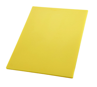 "Winco CBYL-1218, 12"" x 18"" Yellow Cutting Board - Kentucky Restaurant Supply"