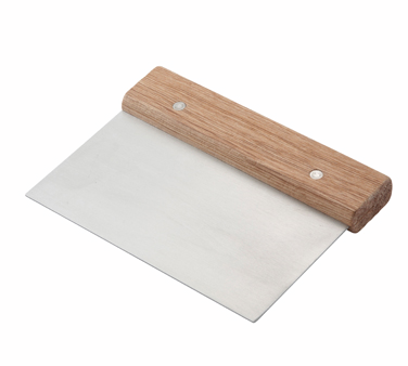 Winco DSC-3 Dough Scraper with Wooden Handle - Kentucky Restaurant Supply