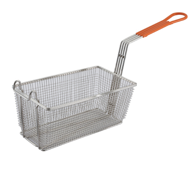 Winco FB-10 Heavy Duty Fry Basket with Plastic Handle - Kentucky Restaurant Supply