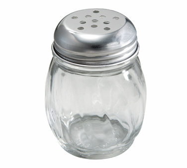 Winco G-107, Cheese Shaker, 6oz, Perforated Top