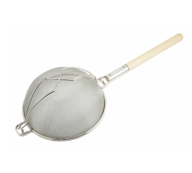 "Winco MST-12D Double Tinned Strainer 12"" - Kentucky Restaurant Supply"