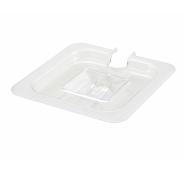 Winco SP7600C Slotted Cover for 1/6 Size Food Pan - Kentucky Restaurant Supply