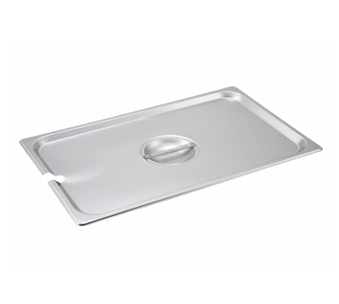 Winco SPCF, S/S Steam Pan Cover, Full-size, Slotted - Kentucky Restaurant Supply