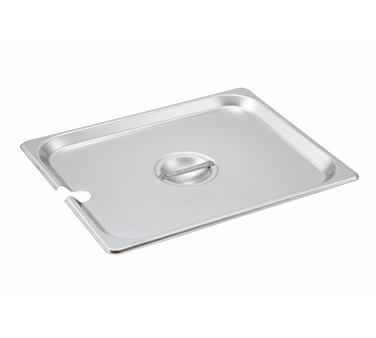 Winco SPCH, S/S Steam Pan Cover, Half-size, Slotted - Kentucky Restaurant Supply