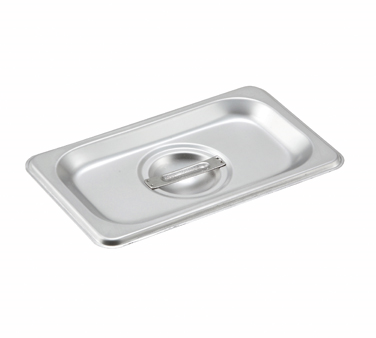 Winco SPCN, S/S Steam Pan Cover, 1/9 Size, Slotted - Kentucky Restaurant Supply