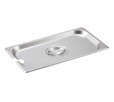 Winco SPCT, S/S Steam Pan Cover, 1/3 Size, Slotted - Kentucky Restaurant Supply