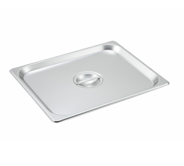Winco SPSCH, S/S Steam Pan Cover, Half-size, Solid